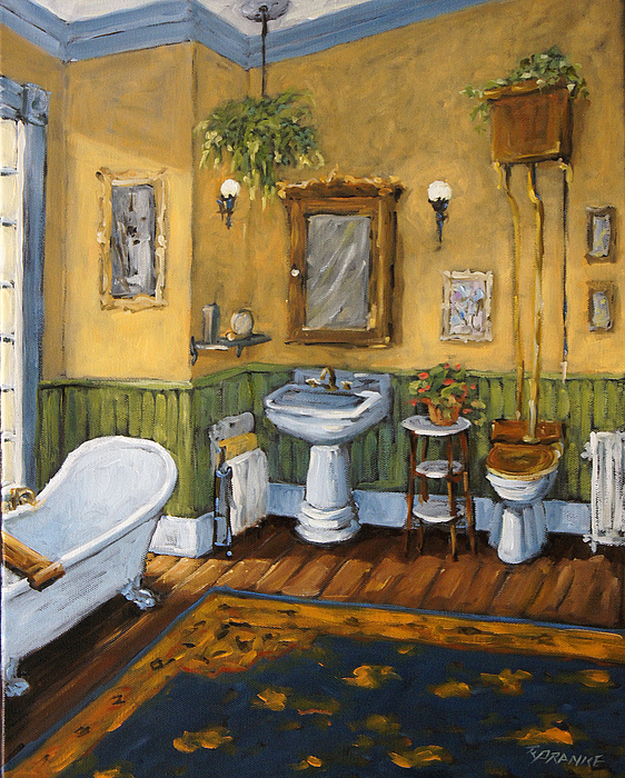 Bathroom Painting - Victorian Bathroom By Prankearts by Richard T Pranke