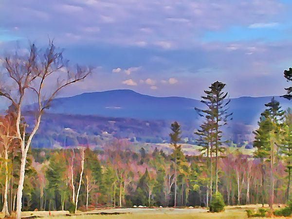 Stowe Photograph - View From Von Trapps Lodge 1 by Bill Cannon