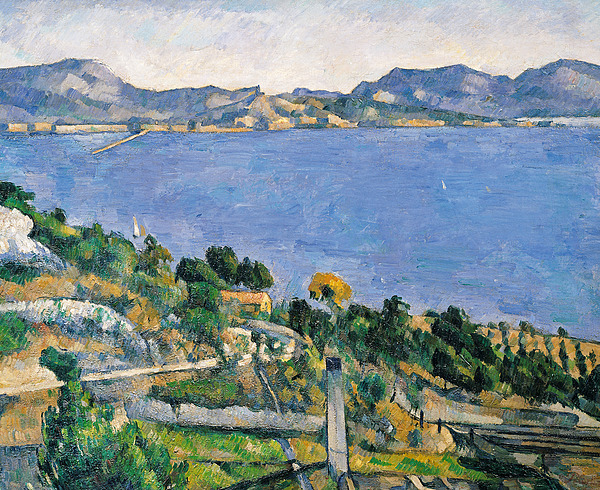 Estaque Painting - View Of The Bay Of Marseilles by Paul Cezanne