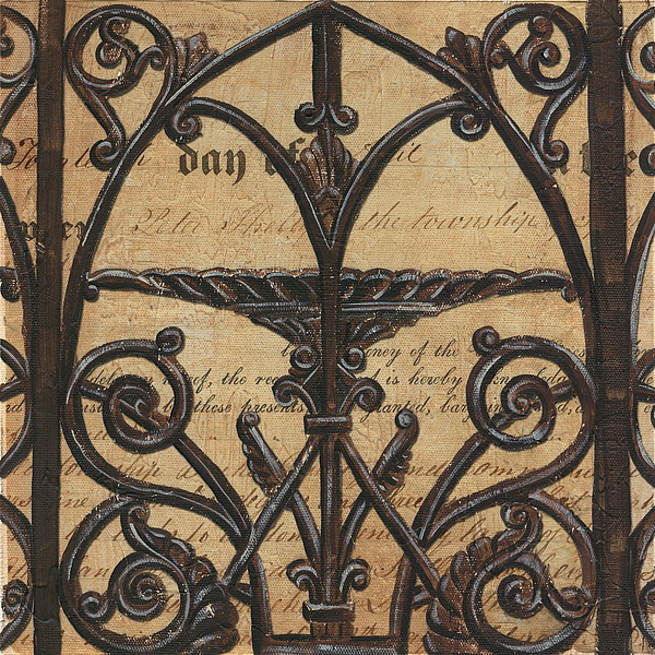 Vintage Iron Scroll Gate 1 Print by Debbie DeWitt