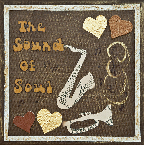 Vintage Style Print Mixed Media - Vintage Soul Music  by Alison Quine
