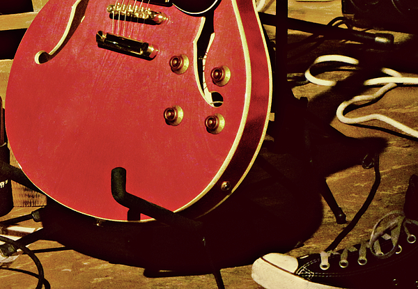 Guitar Photograph - Vintage by Tony Grider