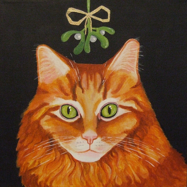Maine Coon Painting - Waiting To Be Kissed by Anni Morris
