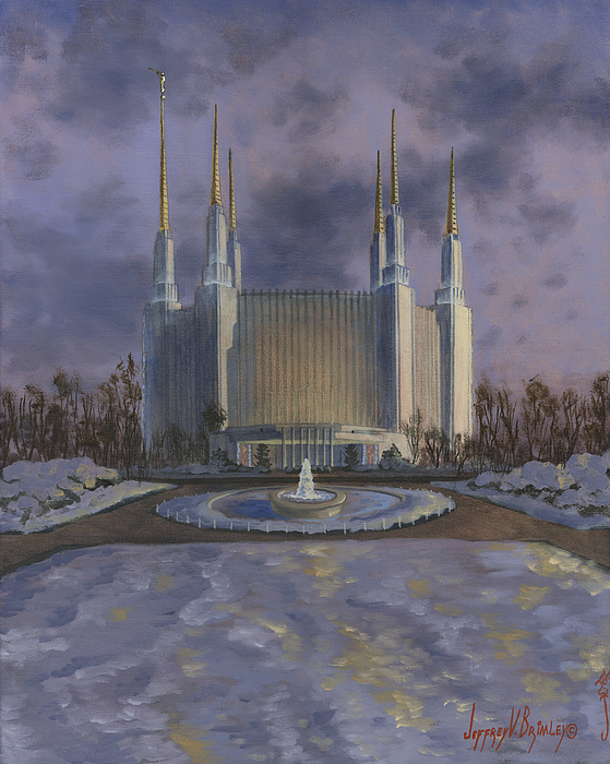 Lds Paintings Painting - Washington Dc Temple by Jeff Brimley