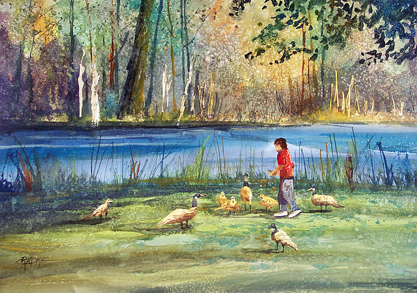 Wautoma Mill Pond Painting