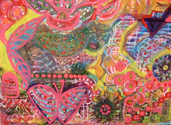 Colors Mixed Media - We Are The Colors Of The World  Aka Medley Of Colors by Anne-Elizabeth Whiteway