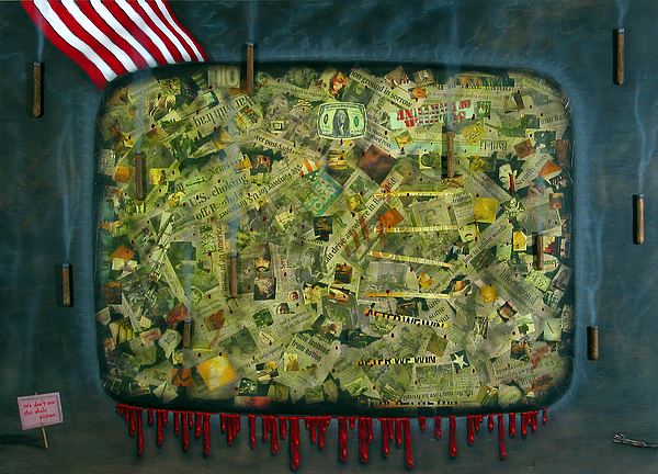 War Painting - We Dont See The Whole Picture by James W Johnson