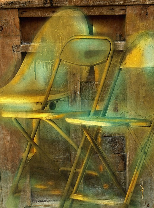 Chairs Photograph - We Dont Talk Anymore  by Bob Salo