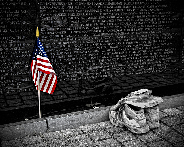 Viet Nam Memorial Photograph - We Will Never Forget Them... by Boyd Alexander