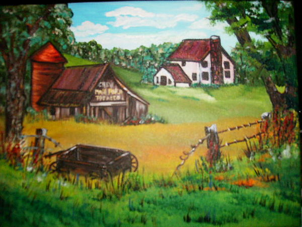 west virginia country roads series one painting by terry lash
