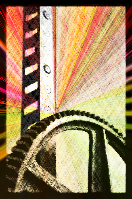 When Rack And Pinion Spark -- Zahnstangenfunkel Digital Art