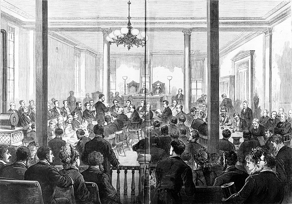 Whiskey Ring Trial, 1876 Photograph