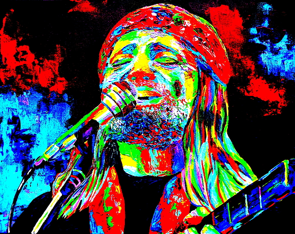 Willie Nelson Painting - Willie Nelson by Mike OBrien