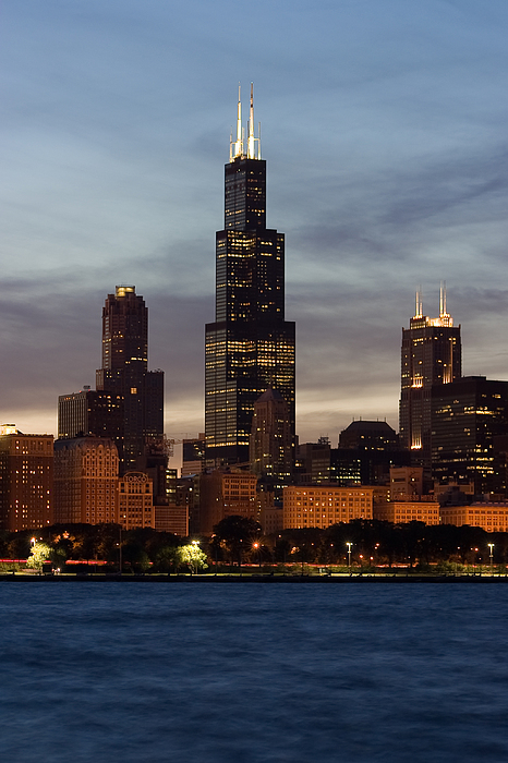 3scape Photos Photograph - Willis Tower At Dusk Aka Sears Tower by Adam Romanowicz