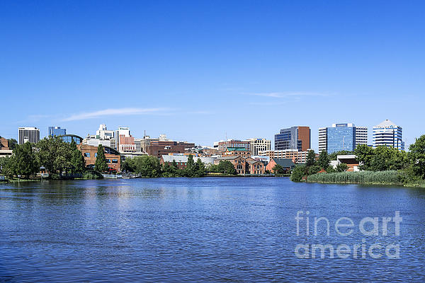 Wilmington Skyline Print by John Greim