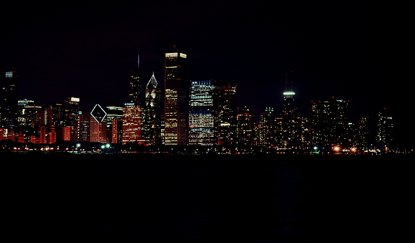 Chicago Photograph - Windy City Lights by Emily Stauring