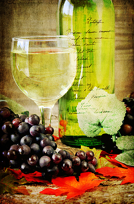 Wine Print by Darren Fisher