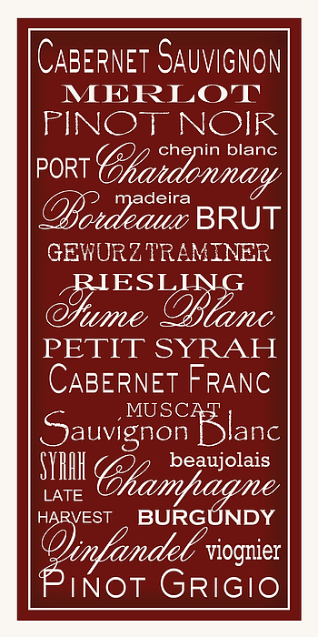 Wine List Digital Art - Wine List Red by Rebecca Gouin