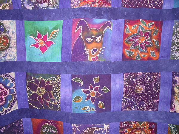 Quilt Tapestry - Textile - Winky Quilt II by Deva  Hymen