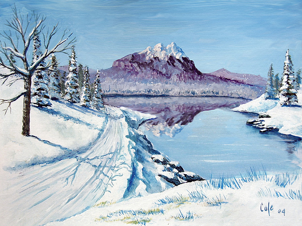 Winter Road Painting