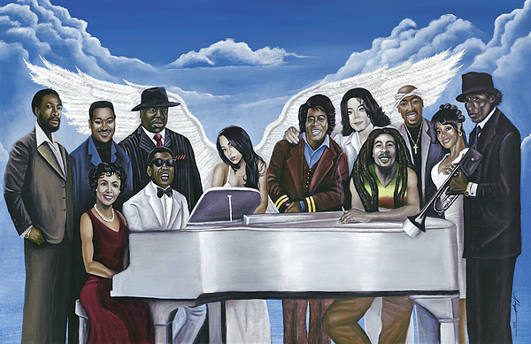 Marvin Gaye Painting - Wish You Were Here by Stacy V McClain