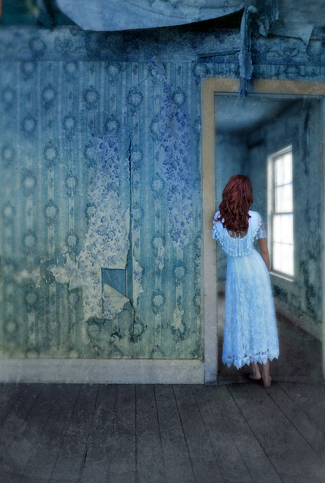 Woman In Abandoned House Photograph