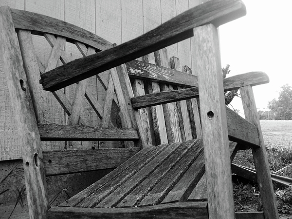 Chair Photograph - Wooden Chair by Ali Dover