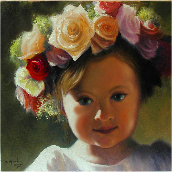 Wreath Painting - Wreath Of Roses by Stephen Lucas