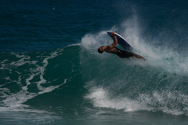 Boogie Board Photograph - Wrong Side Up by Roger Mullenhour
