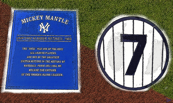 Art Painting - Yankee Legends Number 7 by David Lee Thompson