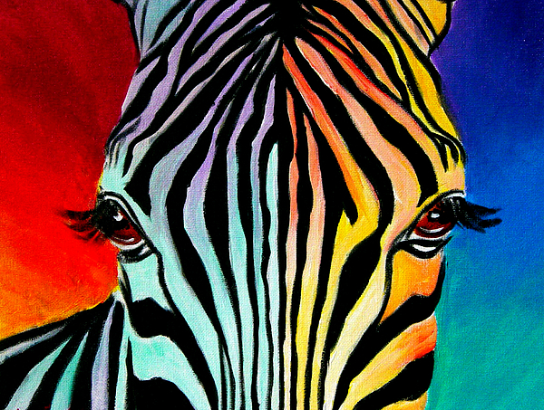 Zebra - End Of The Rainbow Painting