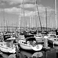 Sail Boats At San Francisco China Basin Pier 42 With The Bay Bridge In The Background . 7d7666 by Wingsdomain Art and Photography