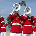 U.s. Marine Corps Drum And Bugle Corps by Stocktrek Images
