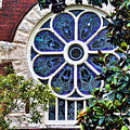 1901 Antique Uab Gothic Stained Glass Window by Kathy Clark