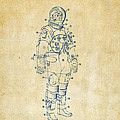 1973 Astronaut Space Suit Patent Artwork - Vintage by Nikki Marie Smith