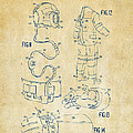 1973 Space Suit Elements Patent Artwork - Vintage by Nikki Marie Smith