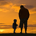 A Father And His Baby Son Watch by Jason Edwards