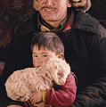 A Kazakh Eagle Hunter And His Son by David Edwards