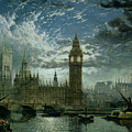 A View Of Westminster Abbey And The Houses Of Parliament by John MacVicar Anderson