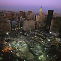 An Aerial View Of Ground Zero by Ira Block