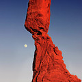 Balanced Rock And Moon by William Gillam