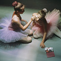 Ballerinas Get Ready For A Performance by Richard Nowitz
