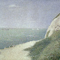 Beach At Bas Butin by Georges Pierre Seurat