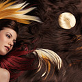 Beautiful Woman With Colorful Hair Extensions by Oleksiy Maksymenko
