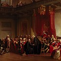 Benjamin Franklin Appearing Before The Privy Council  by Christian Schussele