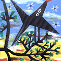 Bird On A Tree After Picasso by Alexandra Jordankova