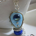 Blue Space Necklace by Janet  Telander
