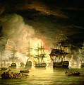 Bombardment Of Algiers by Thomas Luny
