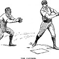 Catcher & Batter, 1889 by Granger