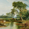 Cattle Watering by Thomas Moran
